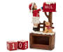 Girl and Dog Christmas Countdown Calendar with number blocks outside of cubby angled view silo image