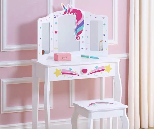 Girls Unicorn Dress Up Table Stool Big Lots