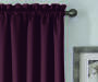 Gisele Plum Blackout Single Curtain Panel 63 inches Cropped Lifestyle