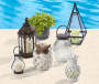 Glass Carved Battery Operated Lantern lifestyle