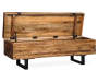 Glosco Light Brown Storage Bench silo front