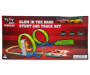 Glow in the Dark Stunt Track Set with Cars silo front package