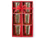 Gold Mercury Glass 6-Piece Candle Holder Set In Package