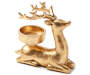 Gold Sitting Deer Tealight Candle Holder silo side view