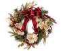 Gold and Burgundy Magnolia Wreath 24 inches silo front