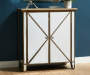 Gold and Mirror 2 Door Accent Chest lifestyle entry way