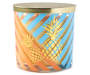 Golden Pineapple Cocktail Stripe Jar Candle 14 ounces silo front