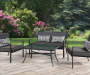 Grace Bay Gray 4-Piece Patio Set