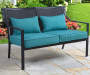 Grace Bay Teal Loveseat Bench