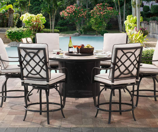 Wilson Fisher Grandview Round High Dining Fire Pit Table 54 Big Lots