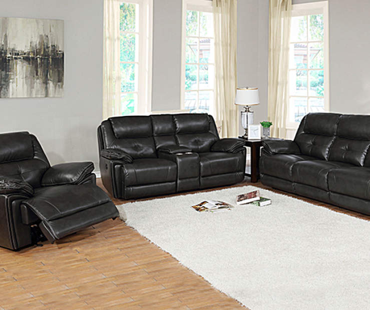 Granger Dark Gray Faux Leather Living Room Collection | Big Lots