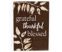 Grateful Thankful Blessed Box Plaque silo front