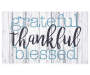 Grateful Thankful Blessed Rubber Doormat 18 inches by 30 inches Silo Image