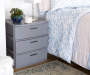Gray 3 Drawer Wide Weave Organizer lifestyle bedroom