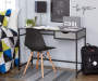 Gray Black Metal and Melamine Desk lifestyle