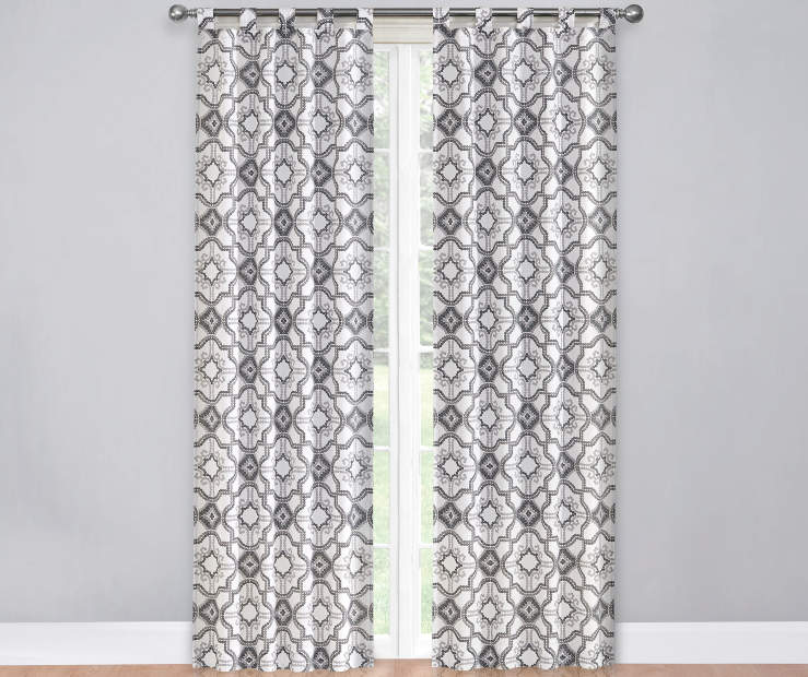 Gray Black and White Colorado Caelen Curtain Panel Pair 60X84 Window View