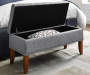 Gray Button Tufted Storage Bed Bench lifestyle