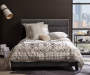 Gray Channeled Upholstered Queen Bed Frame bedroom setting