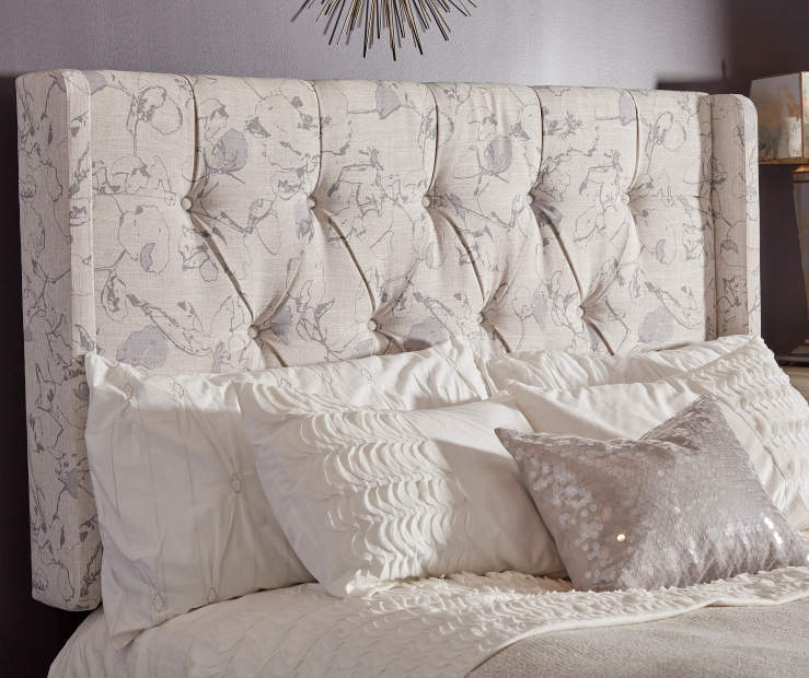 Bedroom Sets At Big Lots One Direction Bedrooms For Girls Hello Kitty Bedroom Ideas Bedroom Furniture Design 2016 In Pakistan: Gray Floral Shelter Button Tufted Upholstered Headboards