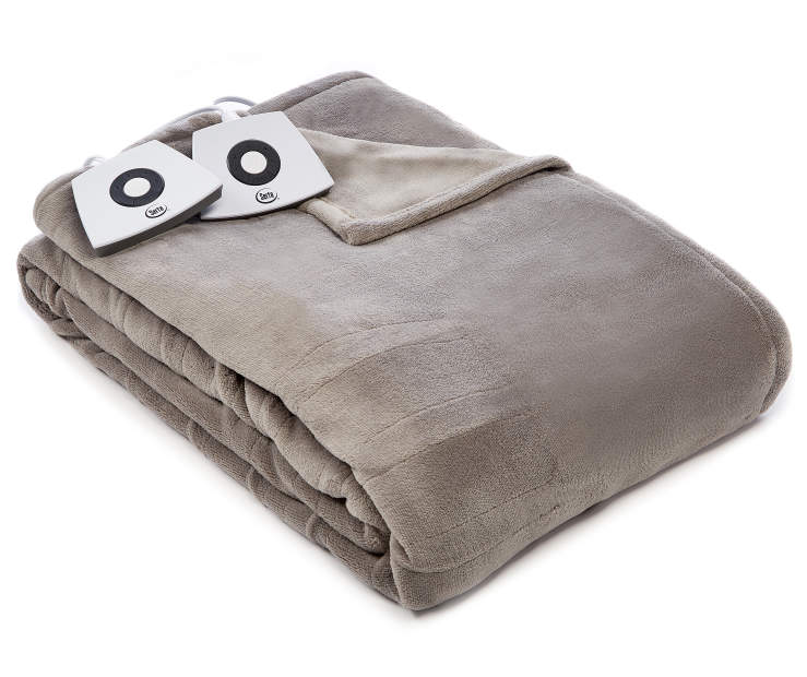 Gray Full Queen Electric Blanket silo front