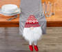 Gray Gnome Table Runner 13 inches x 72 inches On table with glassware