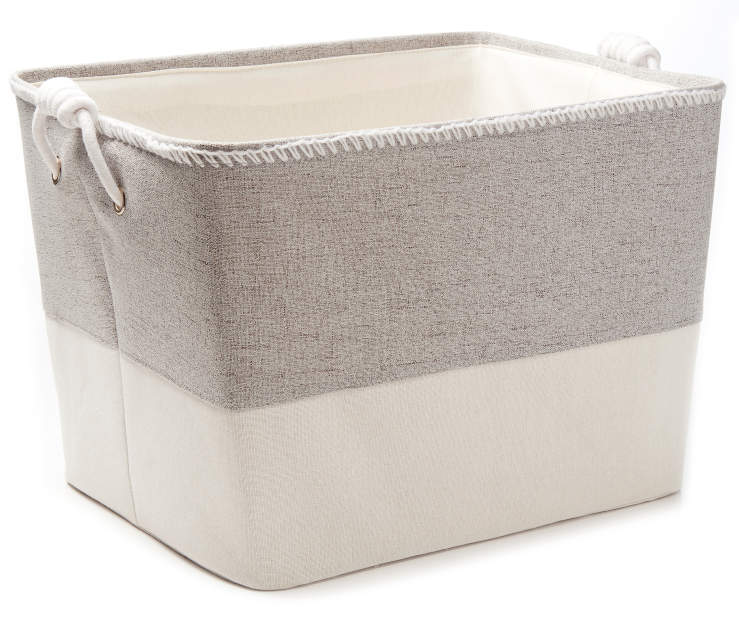 Gray Heather Canvas Floor Bin silo front