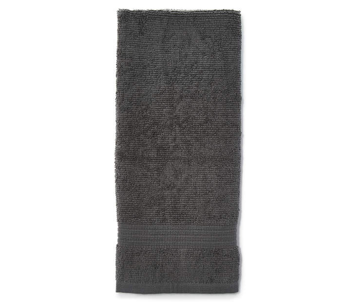 Gray Just Home Hand Towel Folded Silo Image