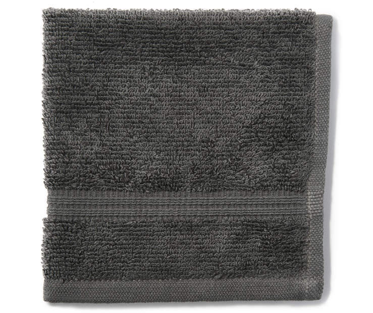 Gray Just Home Wash Cloth Folded Silo Image