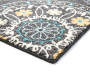 Gray Medallion Accent Rug 2 Feet 6 Inches by 3 Feet 10 Inches Close Up Corner Silo Image