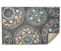 Gray Medallion Accent Rug 2 Feet 6 Inches by 3 Feet 10 Inches Corner Folded Overhead View Silo Image