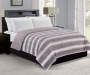 Gray Mink Faux Fur Reversible Full Queen Comforter Bedroom Setting
