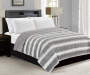 Gray Ombre Full Queen Reversible Faux Fur Comforter lifestyle bedroom