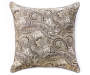 Gray Paisley Outdoor Throw Pillow 24in x 24in silo front