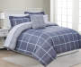 Gray Plaid Twin 6 Piece Comforter Set lifestyle bedroom