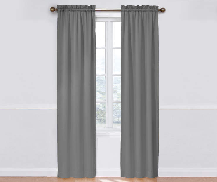 Gray Room Darkening Curtain Panel Pair 84 IN Window View