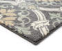 Gray Scroll Accent Runner 1 Feet 8 Inches by 5 Feet Close Up Pile View Silo Image