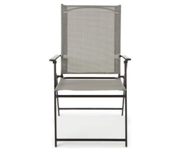 Wilson Fisher Gray Sling Fabric Outdoor Folding Chair