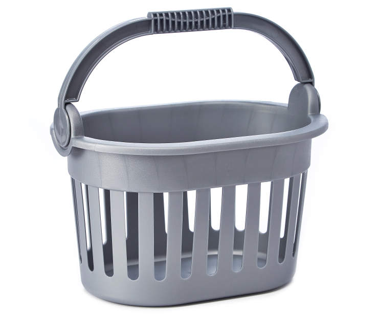 Gray Storage Basket silo front