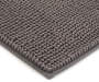 Gray Textured Bath Rug, 36 Inches Silo Image Close Up Corner