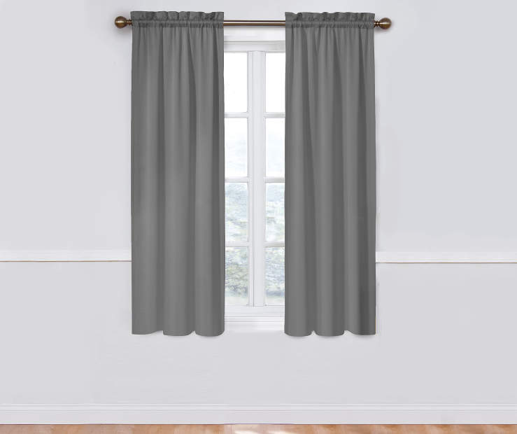 Gray Thermal Curtain Panel Pair 52X63 Window View