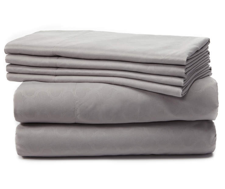 Gray Tile 6-Piece Full Sheet Set Silo Stack