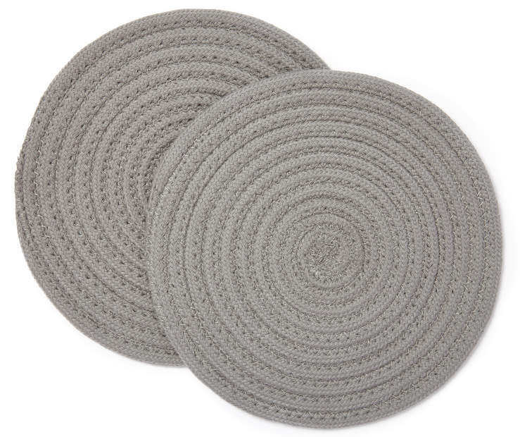 Gray Trivets 2 Pack Overhead View Stacked Silo Image