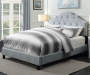 Gray Upholstered King Bed with Scalloped Tufting lifestyle bedroom