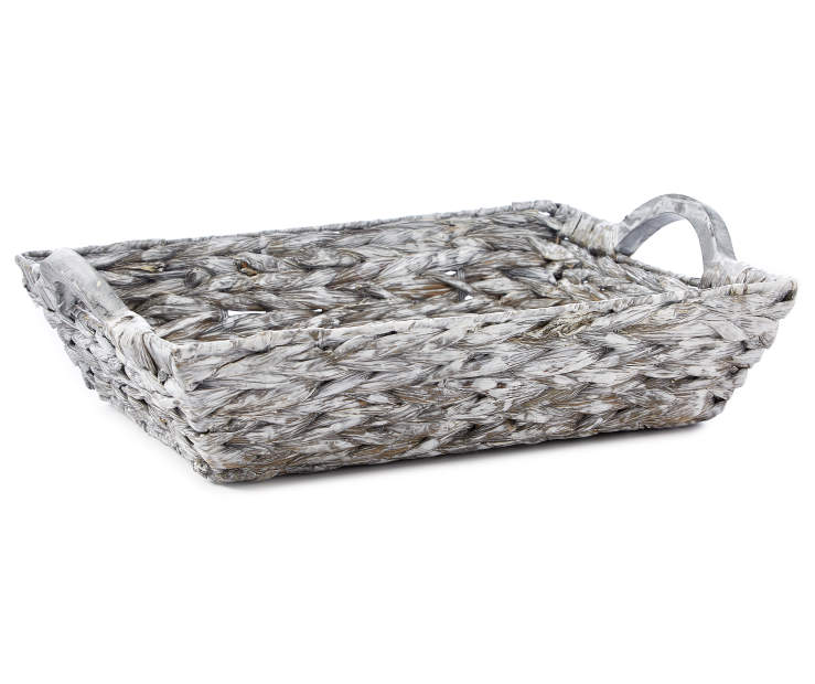Gray Water Hyacinth Tray silo front
