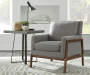 Gray Wood Club Accent Chair lifestyle living room