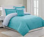 Gray and Aqua Queen 8 Piece Reversible Comforter Set lifestyle