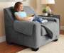 Gray and Black Reversible Chair Protector lifestyle