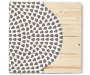 Gray and White Medallion Wood Pallet Wall Decor Overhead View Silo Image