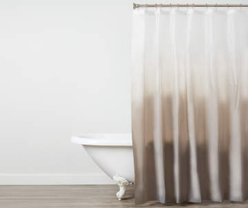 Just Home Gray White Ombre PEVA Shower Curtain