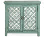 Green Mirrored 2 Door Accent Chest silo front